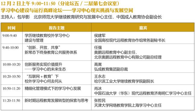 2016中国国际远程教育大会会议议程明细